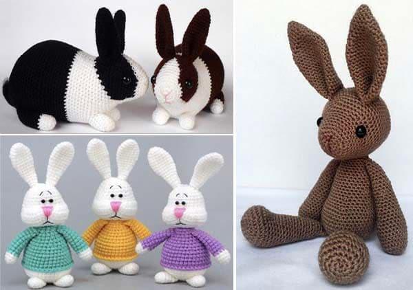 Crochet Amigurumi Bunny Toy Free Patterns Instructions | Crochet ... | 422x600